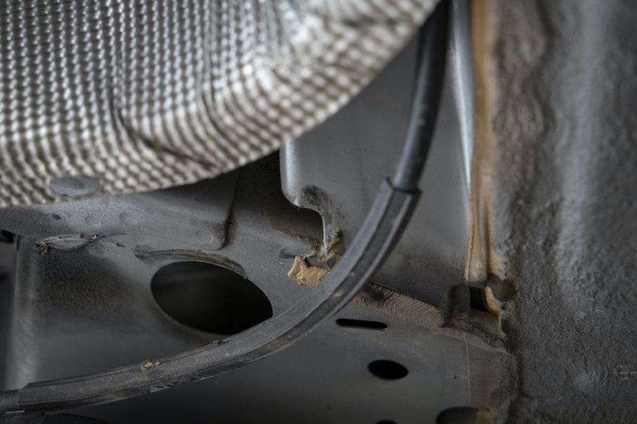 rustangreb på bil og undervogn