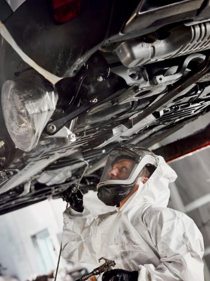 fotodokumenterer rustbeskyttelse og undervognsbehandling